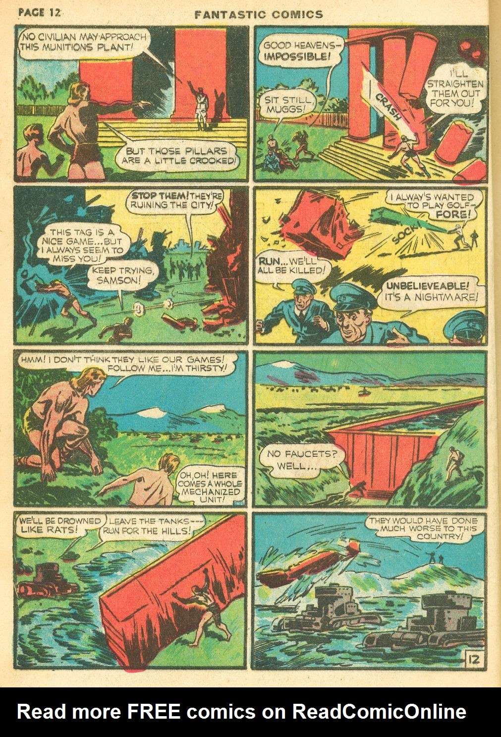 Read online Fantastic Comics comic -  Issue #12 - 14