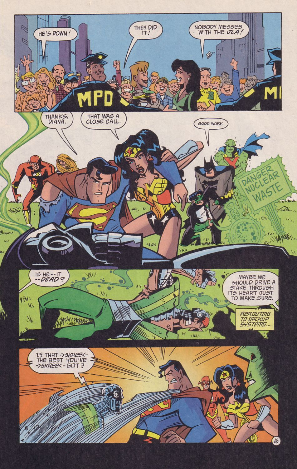 Read online Adventures in the DC Universe comic -  Issue #18 - 17