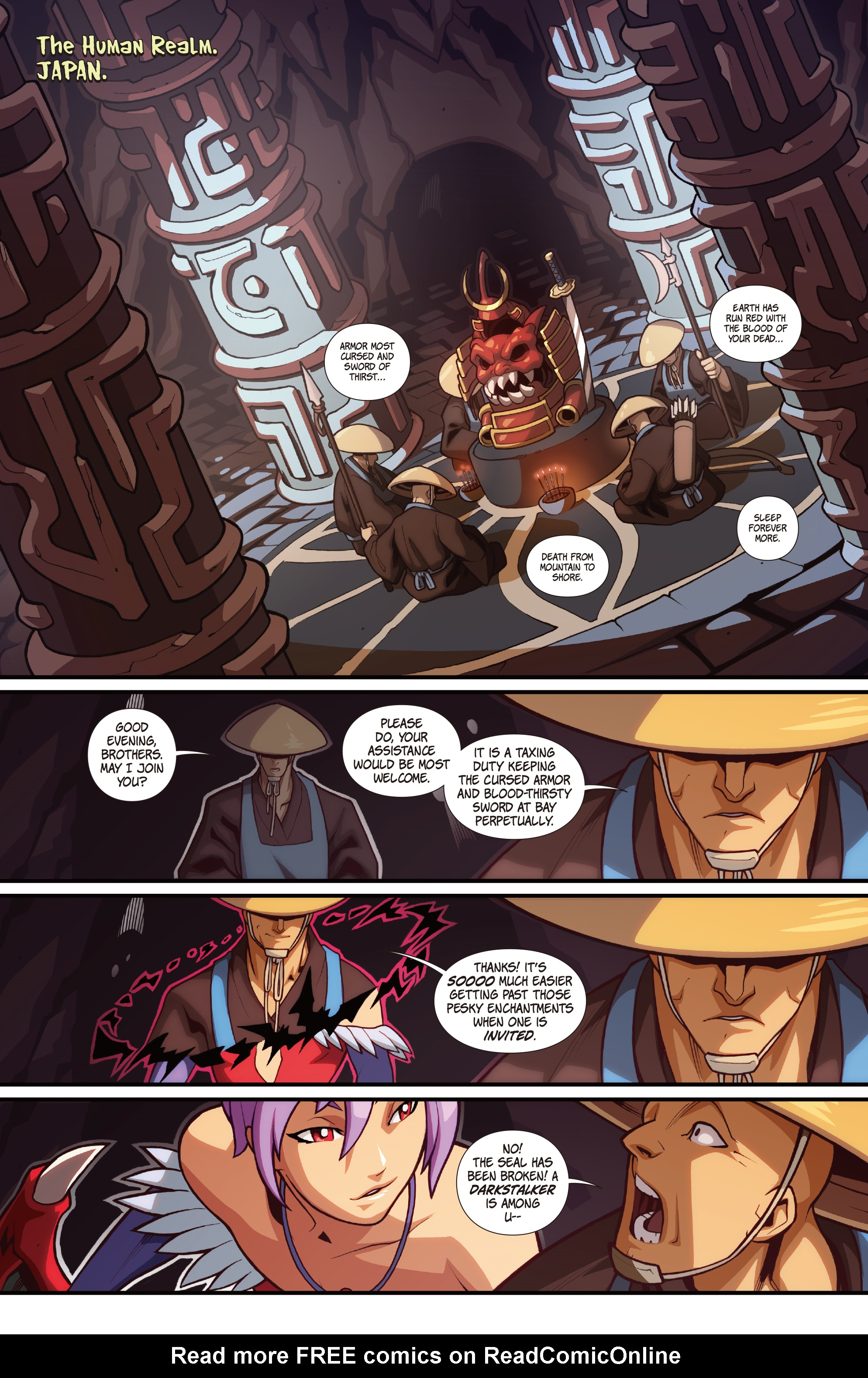 Read online Street Fighter VS Darkstalkers comic -  Issue #2 - 3