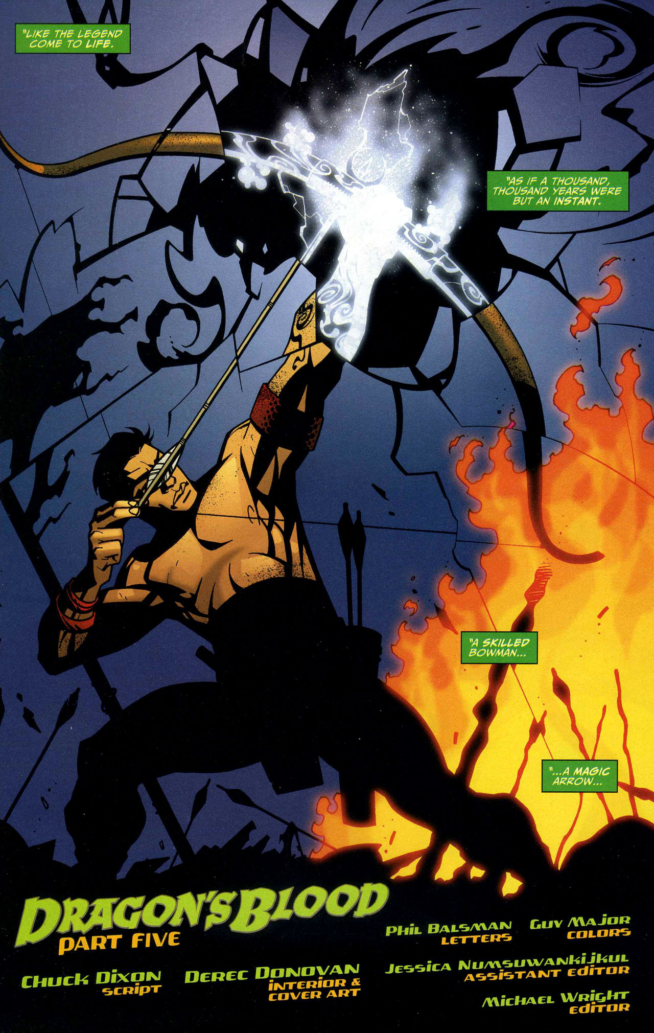 Read online Connor Hawke:  Dragon's Blood comic -  Issue #5 - 2