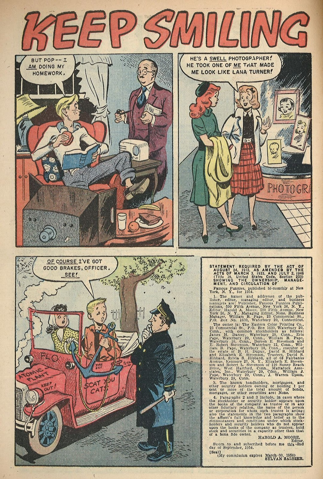 Read online Famous Funnies comic -  Issue #217 - 30