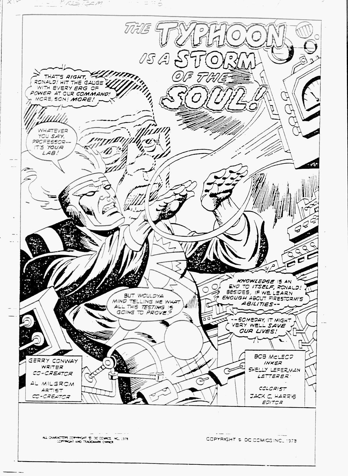 Firestorm (1978) issue 6 - Page 1