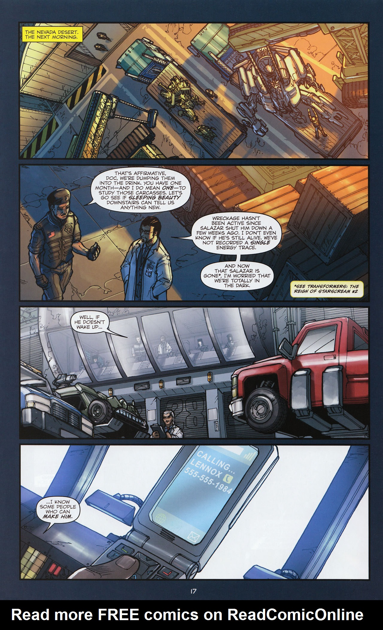 Read online Transformers: Alliance comic -  Issue #1 - 20