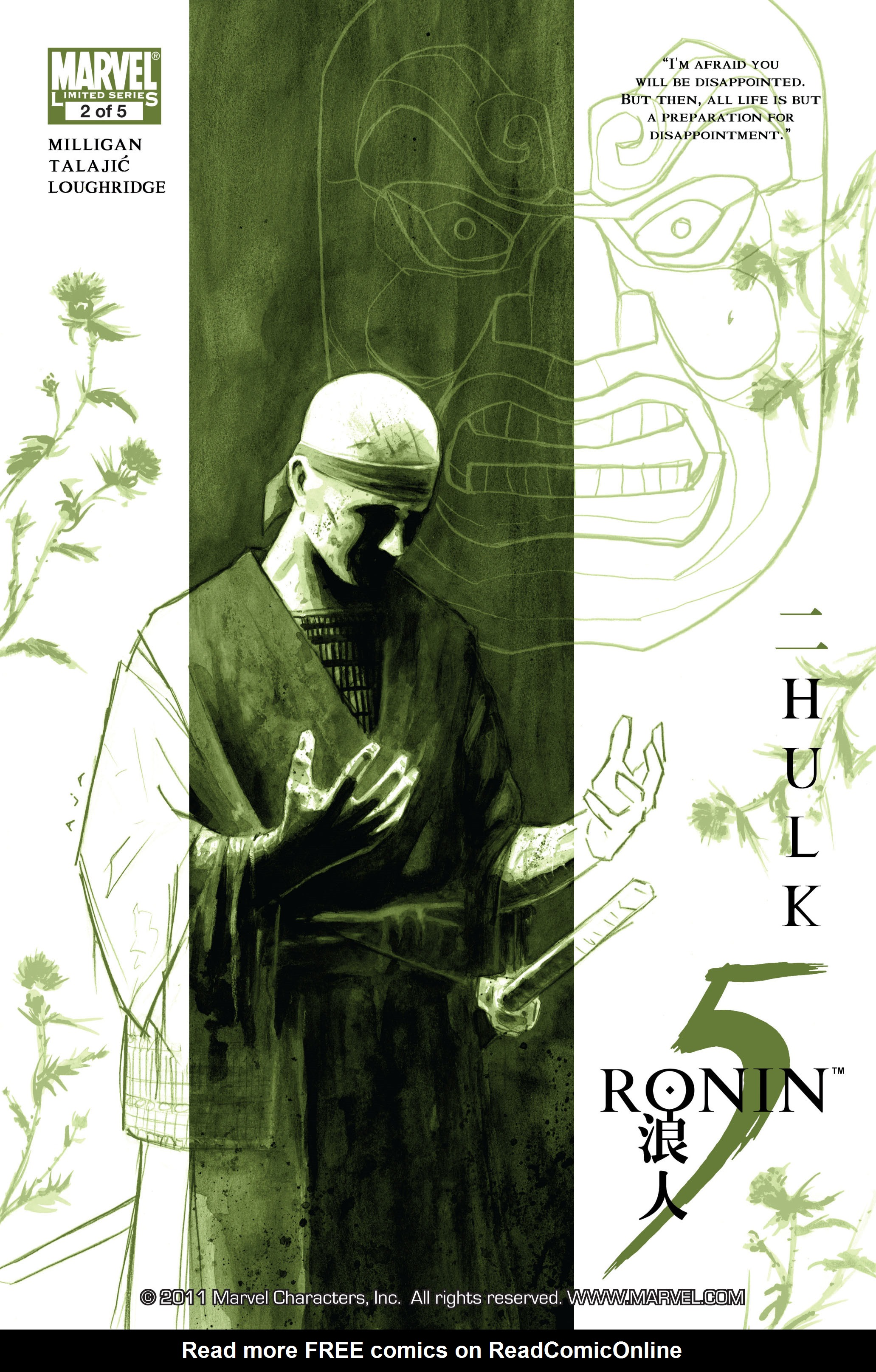 Read online 5 Ronin (2011) comic -  Issue #2 - 1