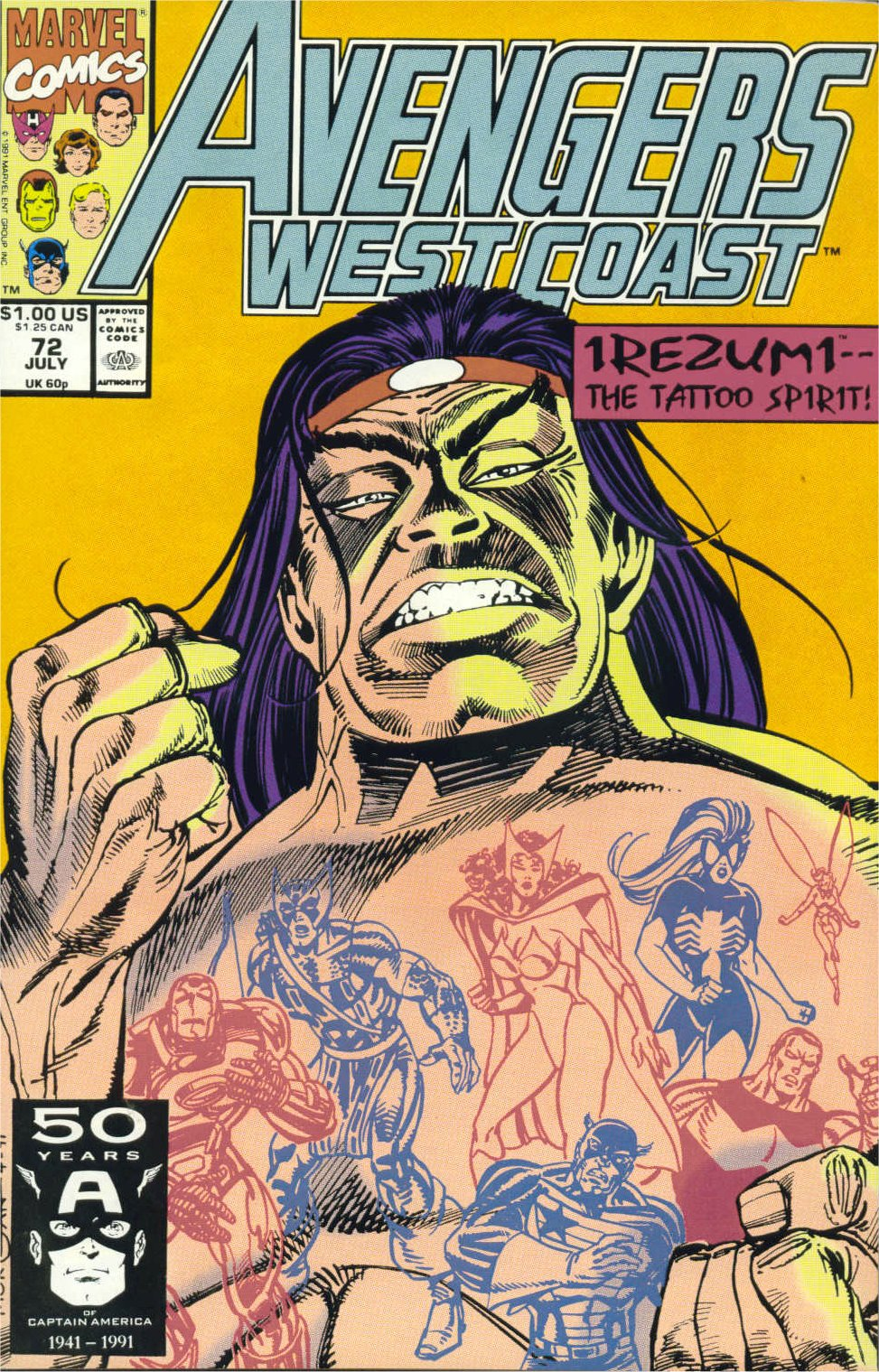Avengers West Coast (1989) 72 Page 1