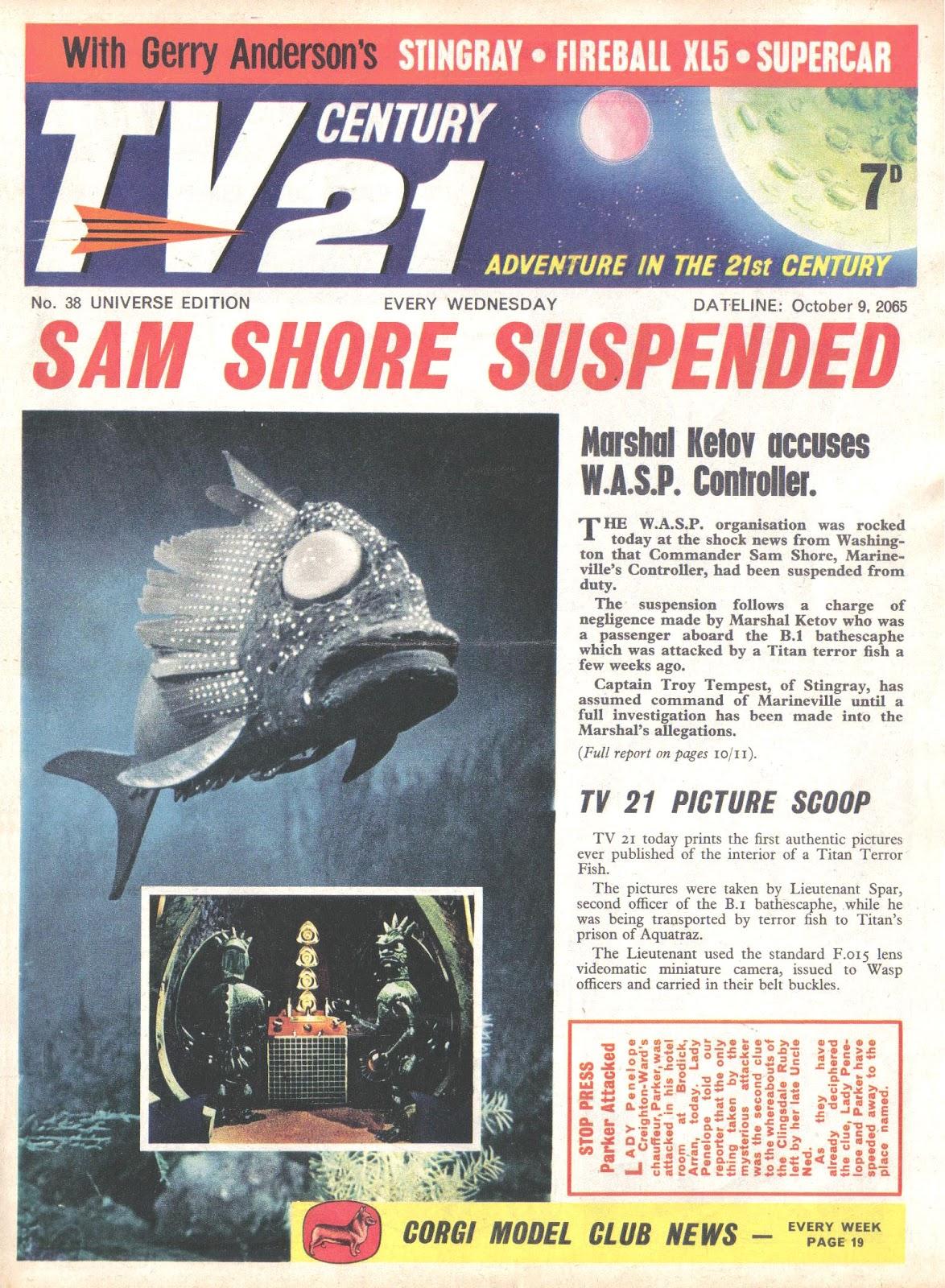 TV Century 21 (TV 21) issue 38 - Page 1