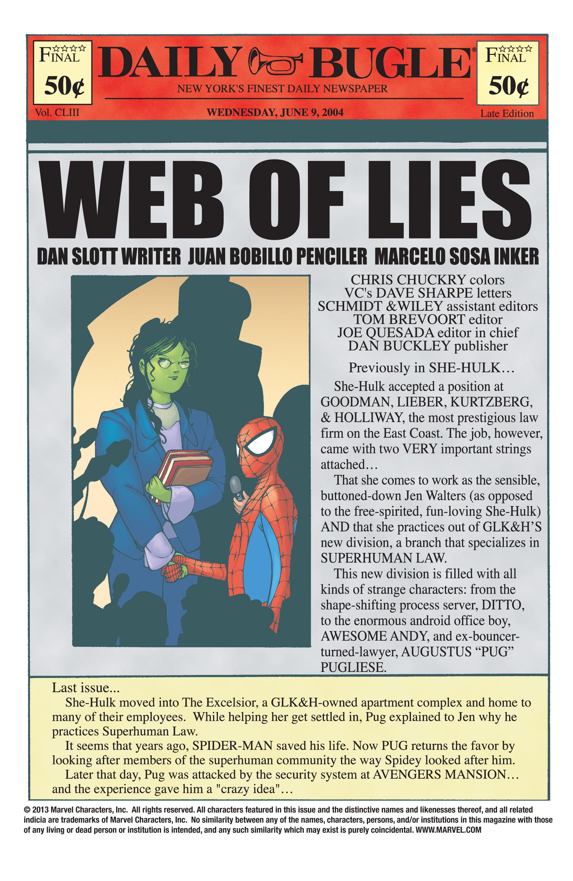 Read online She-Hulk (2004) comic -  Issue #4 - 4