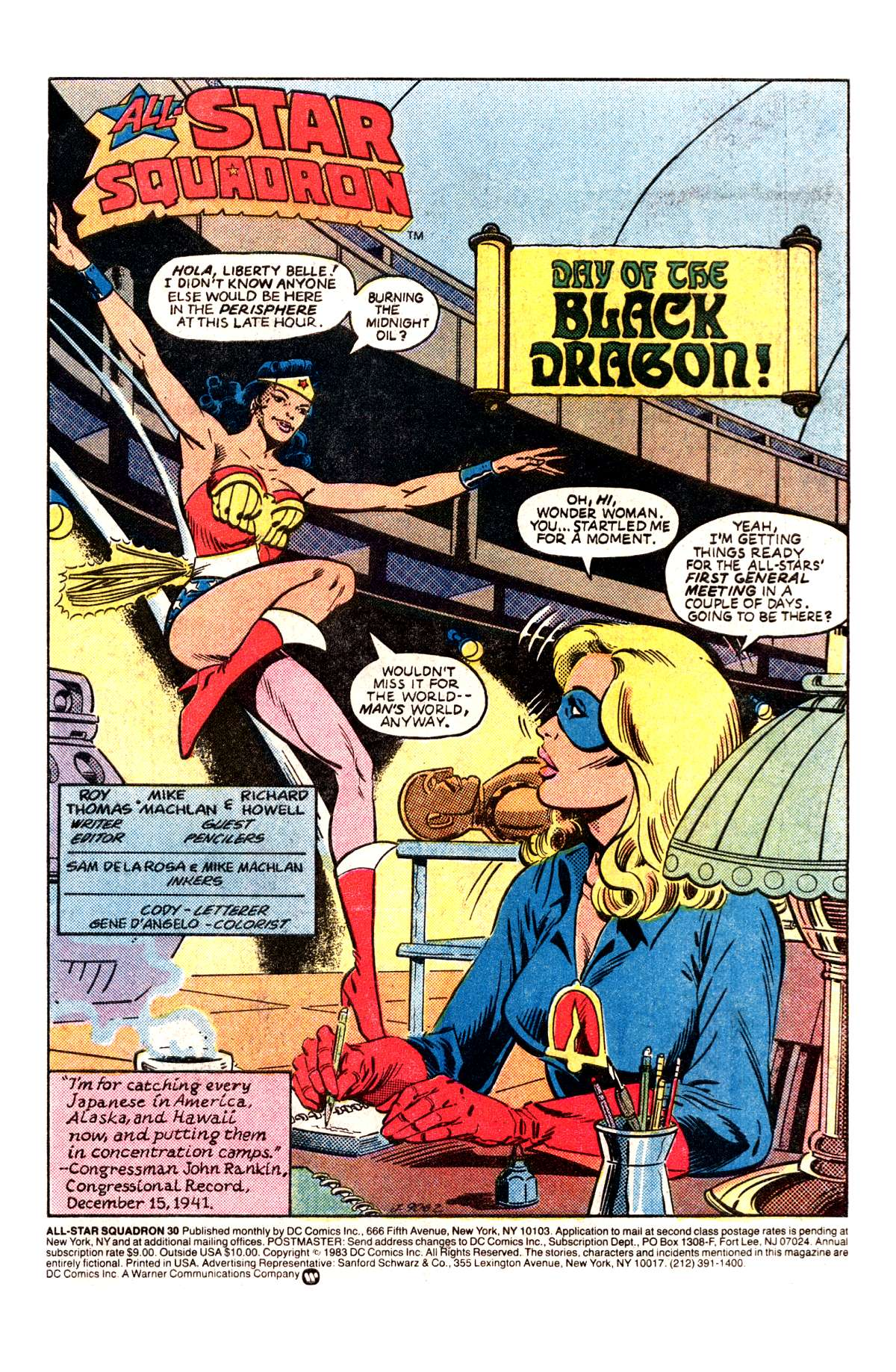 Read online All-Star Squadron comic -  Issue #30 - 2