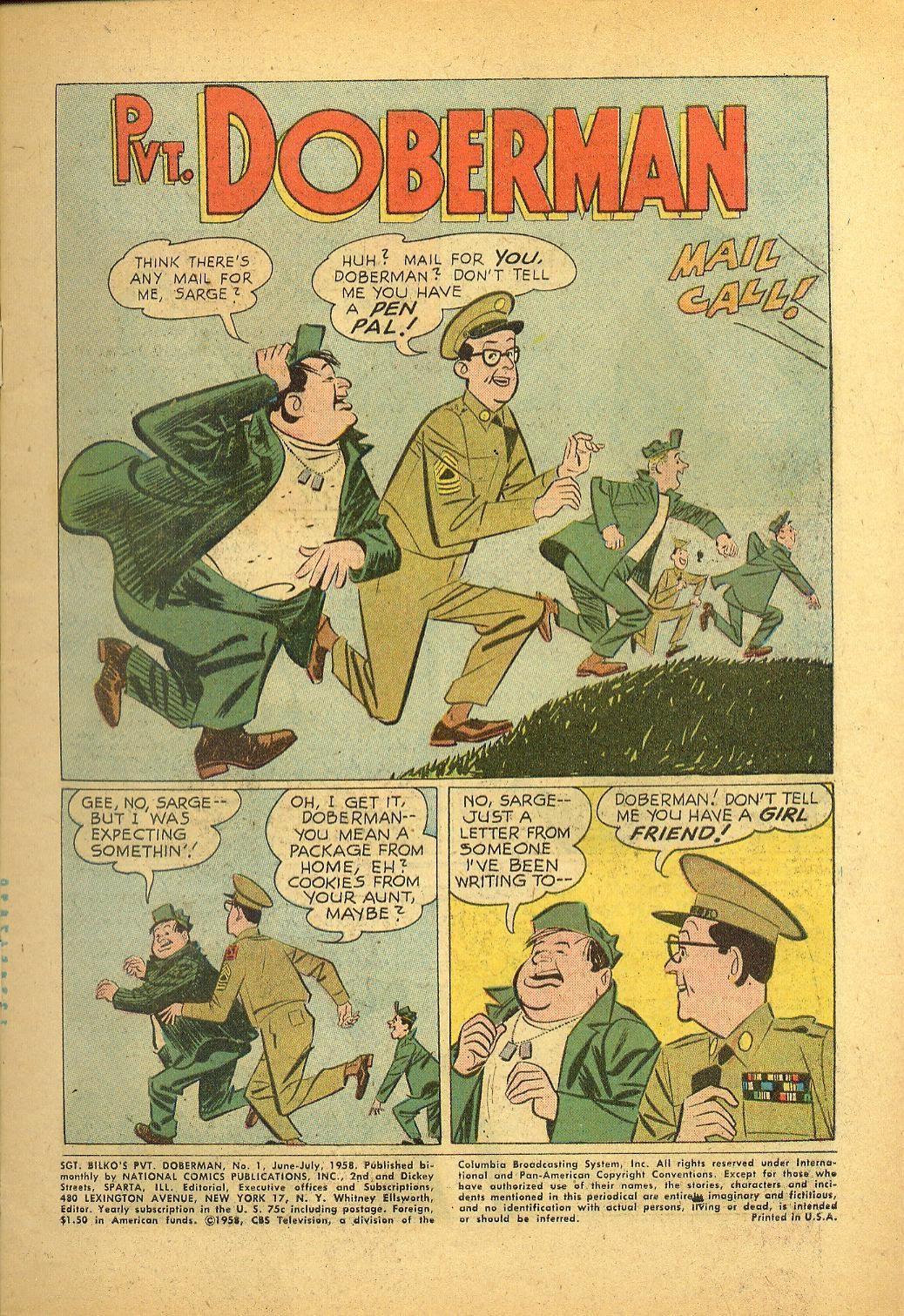 Sgt. Bilko's Pvt. Doberman issue 1 - Page 3
