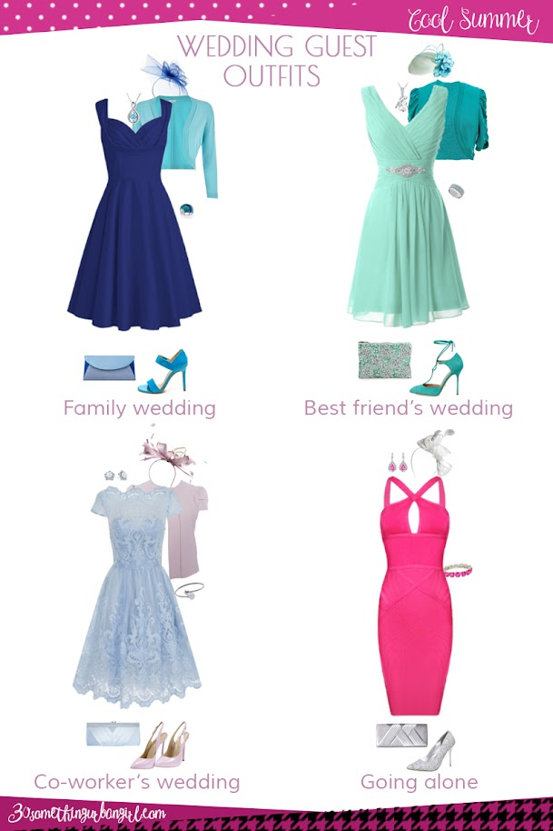 Wedding guest outfit ideas for Cool Summer women by 30somethingurbangirl.com // Are you invited to a family, your best friend's or your co-worker's wedding, maybe going solo to a nuptials? Find pretty outfit ideas and look fabulous!!