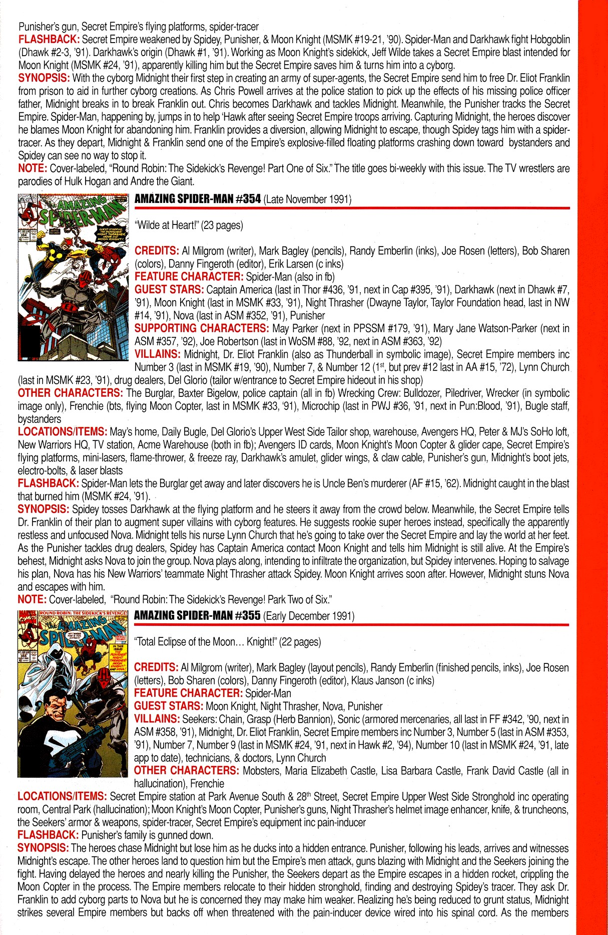 Read online Official Index to the Marvel Universe comic -  Issue #8 - 17