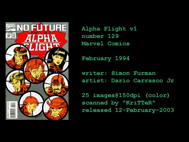 Alpha Flight (1983) issue 129 - Page 1