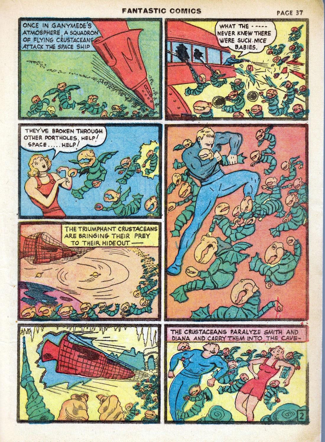 Read online Fantastic Comics comic -  Issue #7 - 39