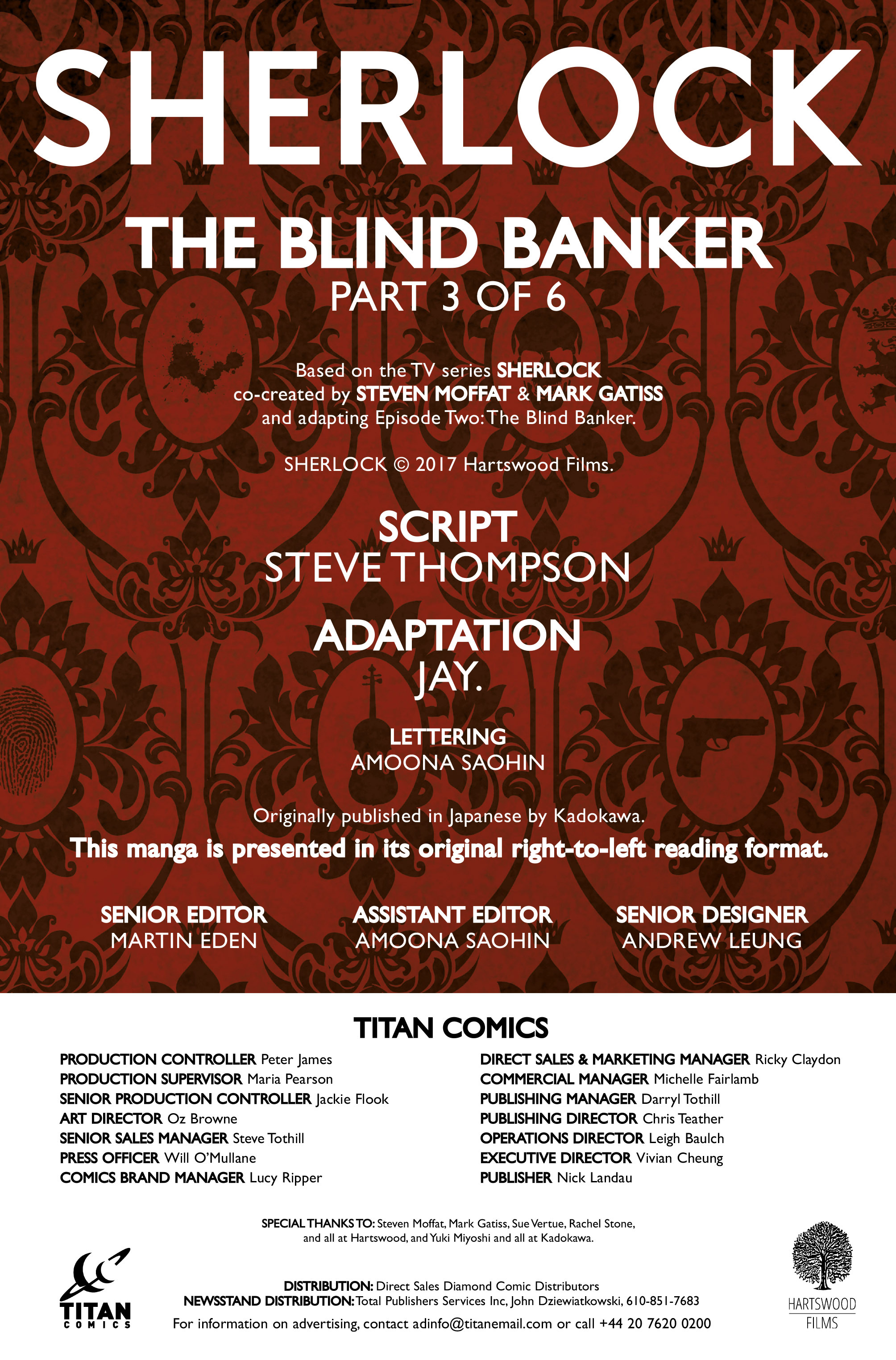 Read online Sherlock: The Blind Banker comic -  Issue #3 - 6