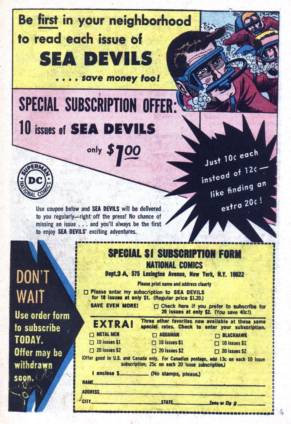 Read online Sea Devils comic -  Issue #18 - 23