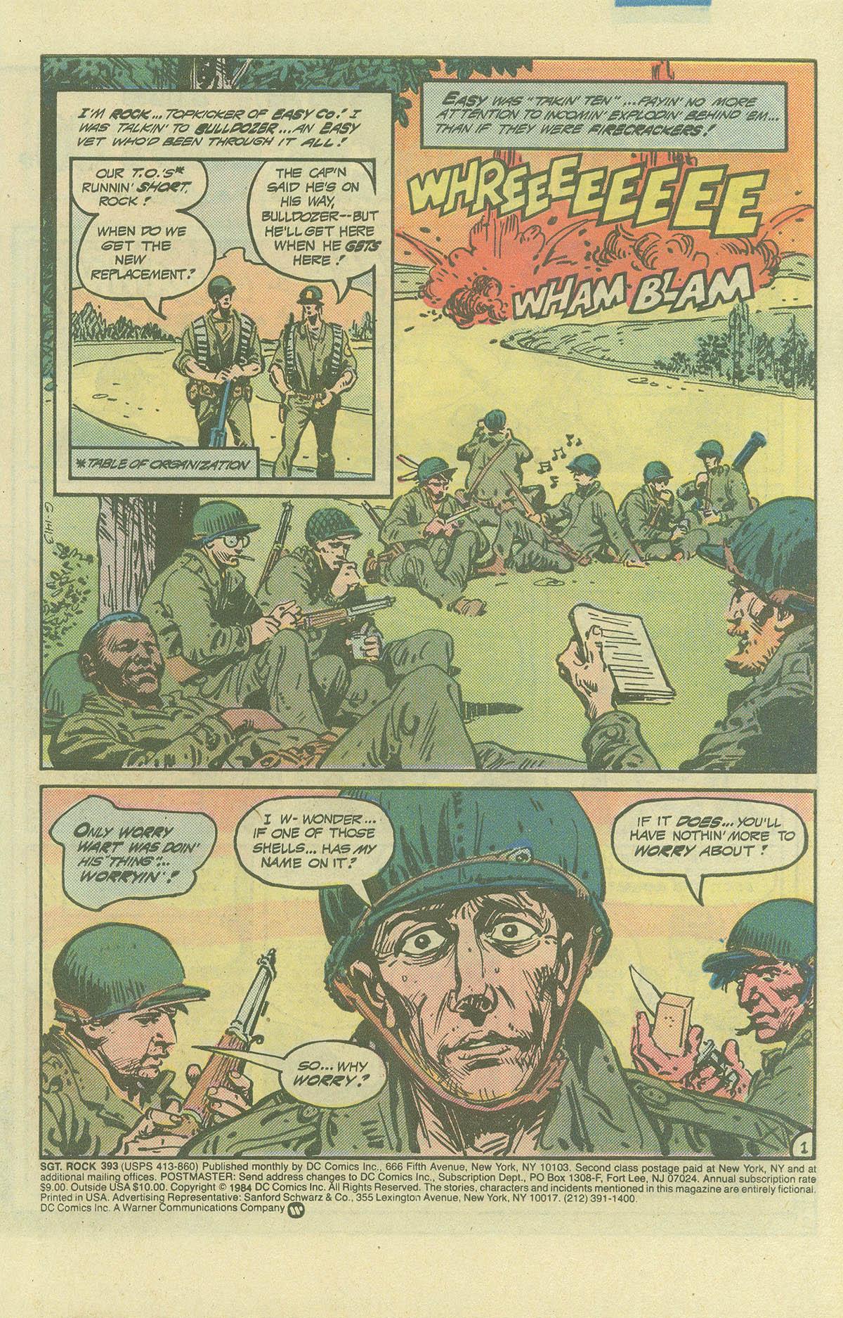 Read online Sgt. Rock comic -  Issue #393 - 2