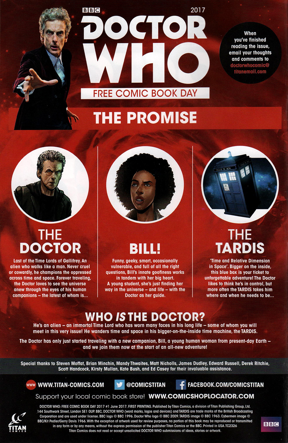 Read online Free Comic Book Day 2017 comic -  Issue # Doctor Who - 2