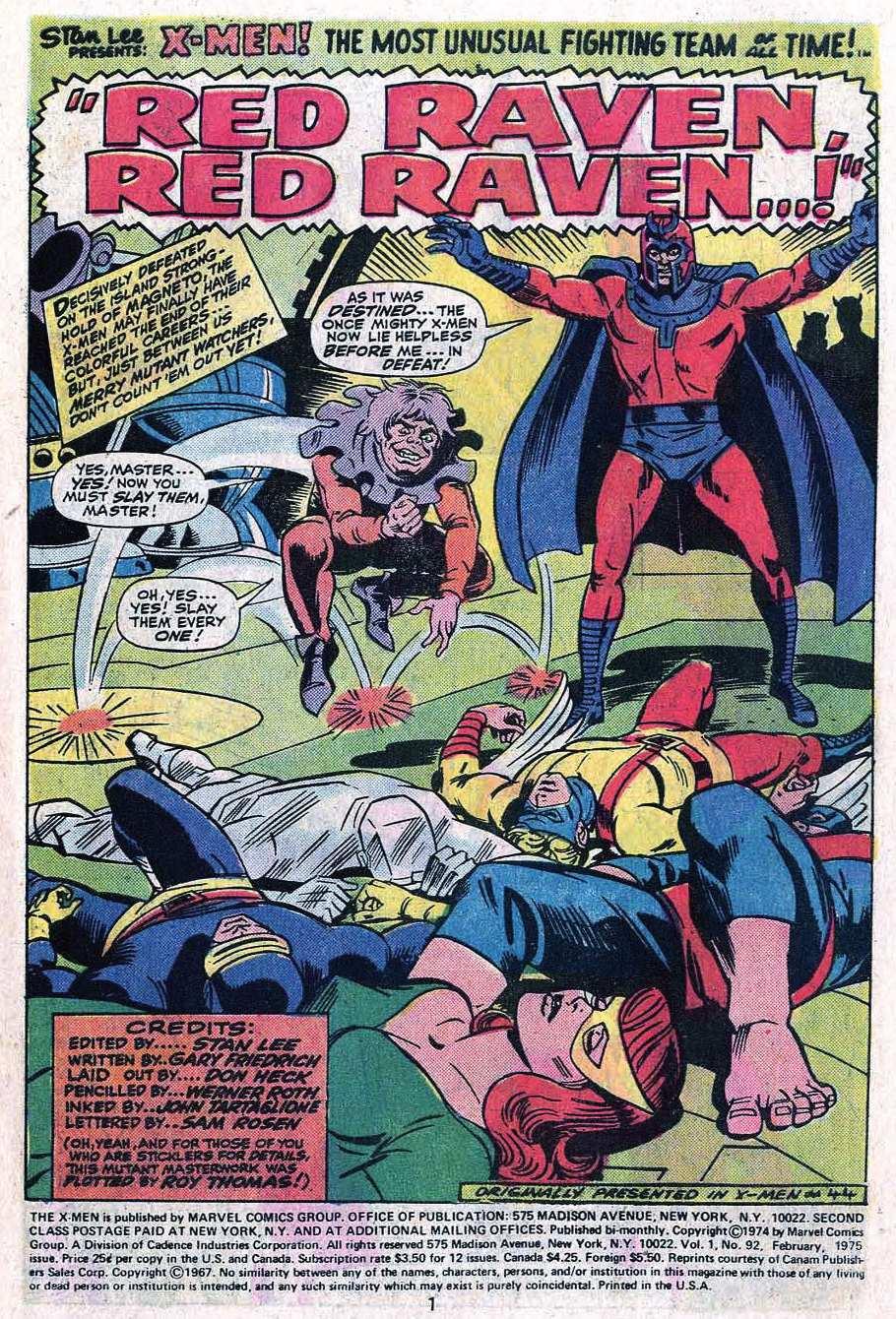 Read online Uncanny X-Men (1963) comic -  Issue #92 - 3