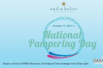 Nailaholics Nail Salon and Spa Celebrates the 2nd Year of National Pampering Day