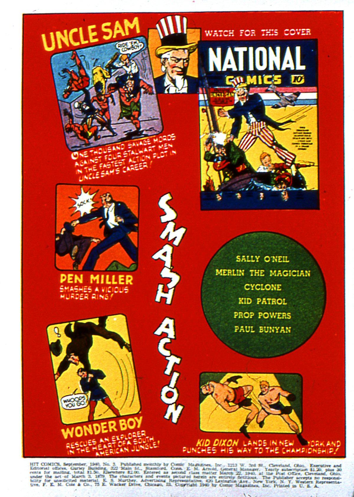 Read online Hit Comics comic -  Issue #3 - 2