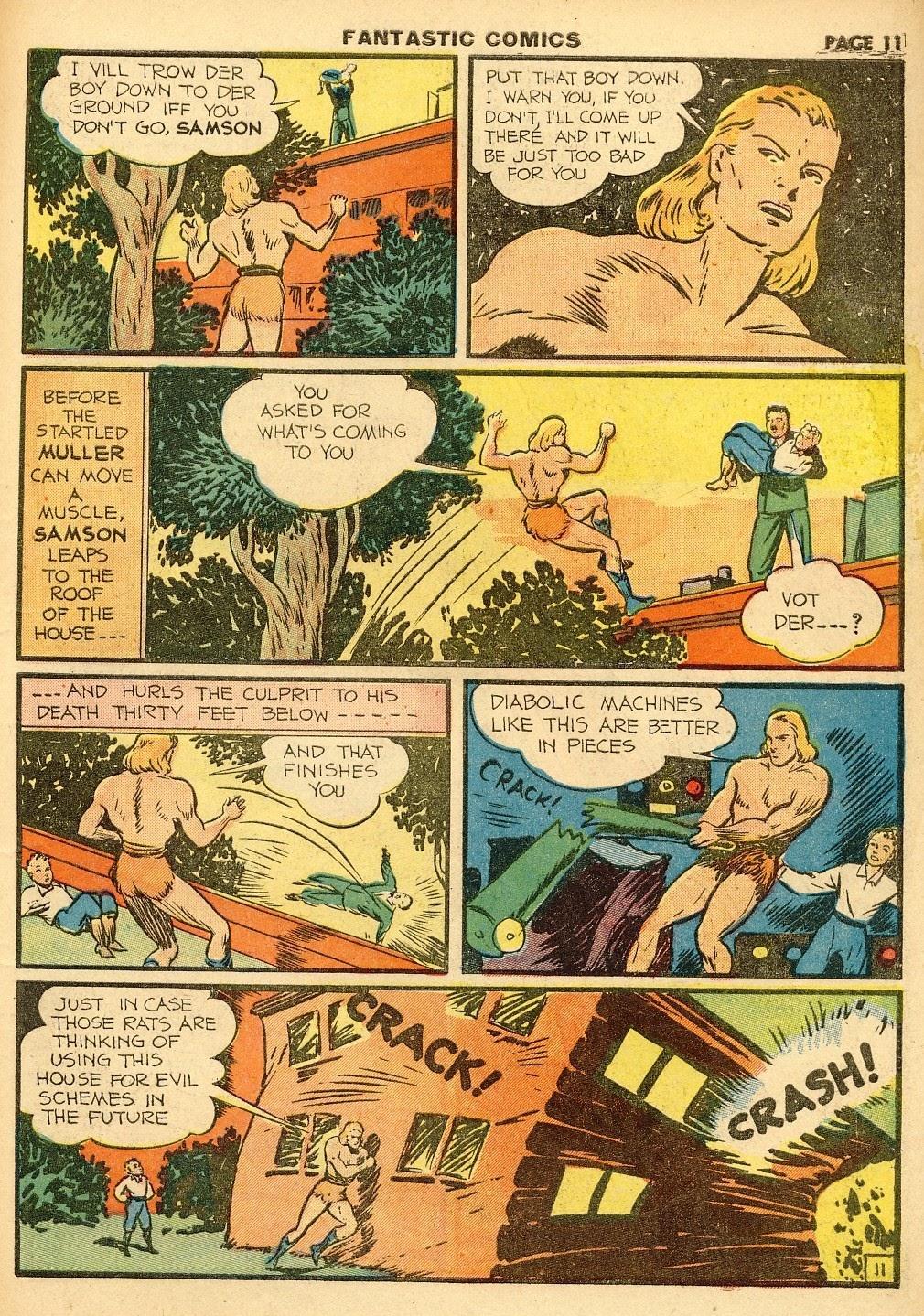 Read online Fantastic Comics comic -  Issue #10 - 12