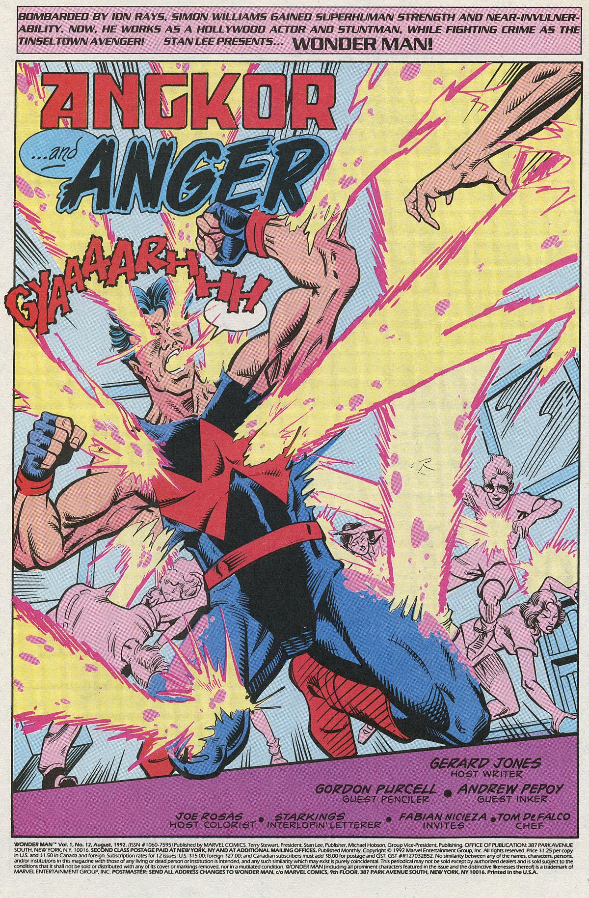 Read online Wonder Man (1991) comic -  Issue #12 - 2