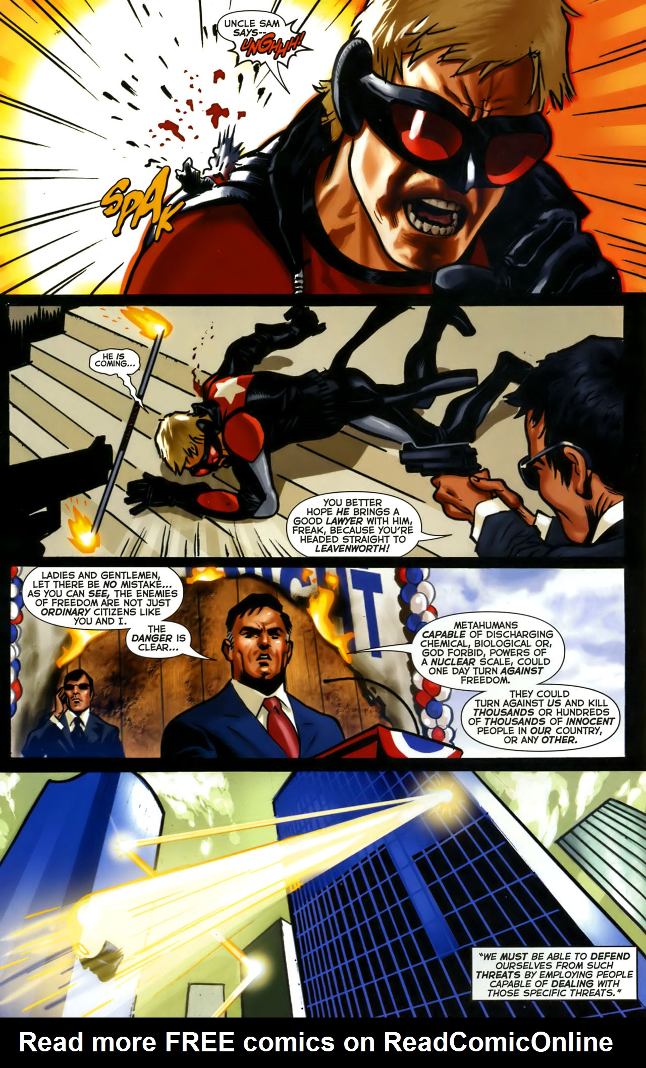 Read online Uncle Sam and the Freedom Fighters (2006) comic -  Issue #1 - 7