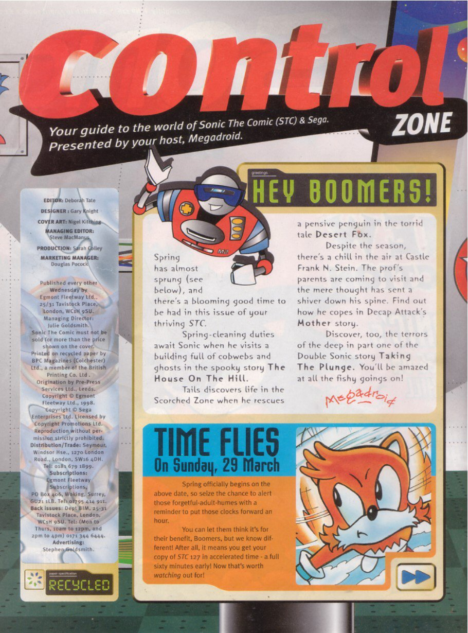 Read online Sonic the Comic comic -  Issue #126 - 2