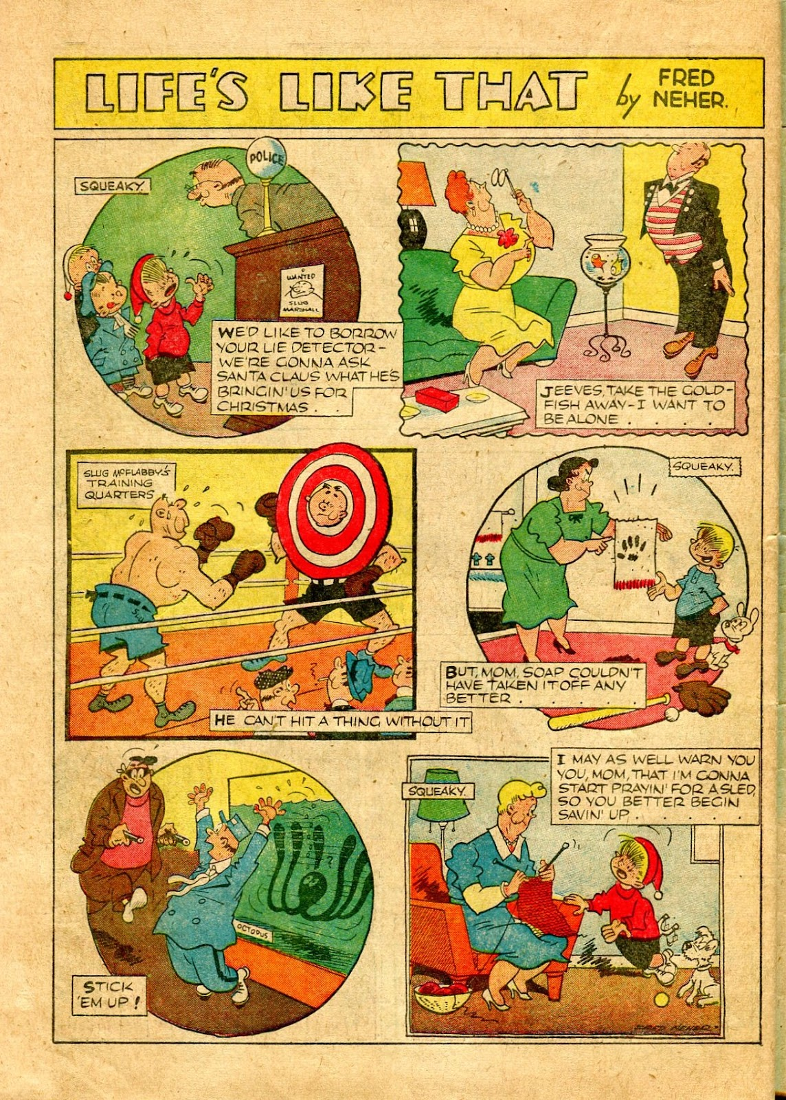 Read online Famous Funnies comic -  Issue #64 - 57