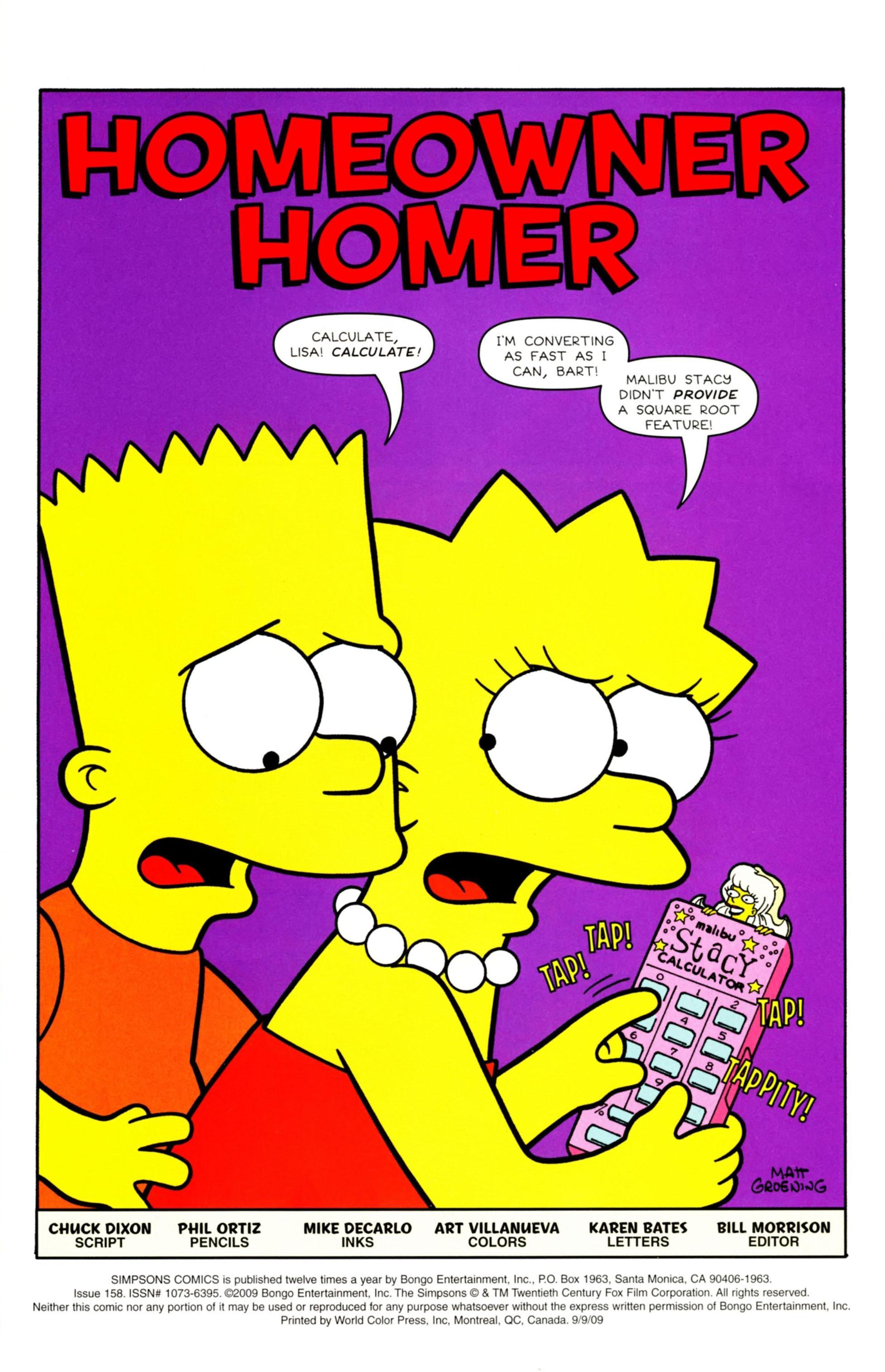 Read online Simpsons Comics comic -  Issue #158 - 2