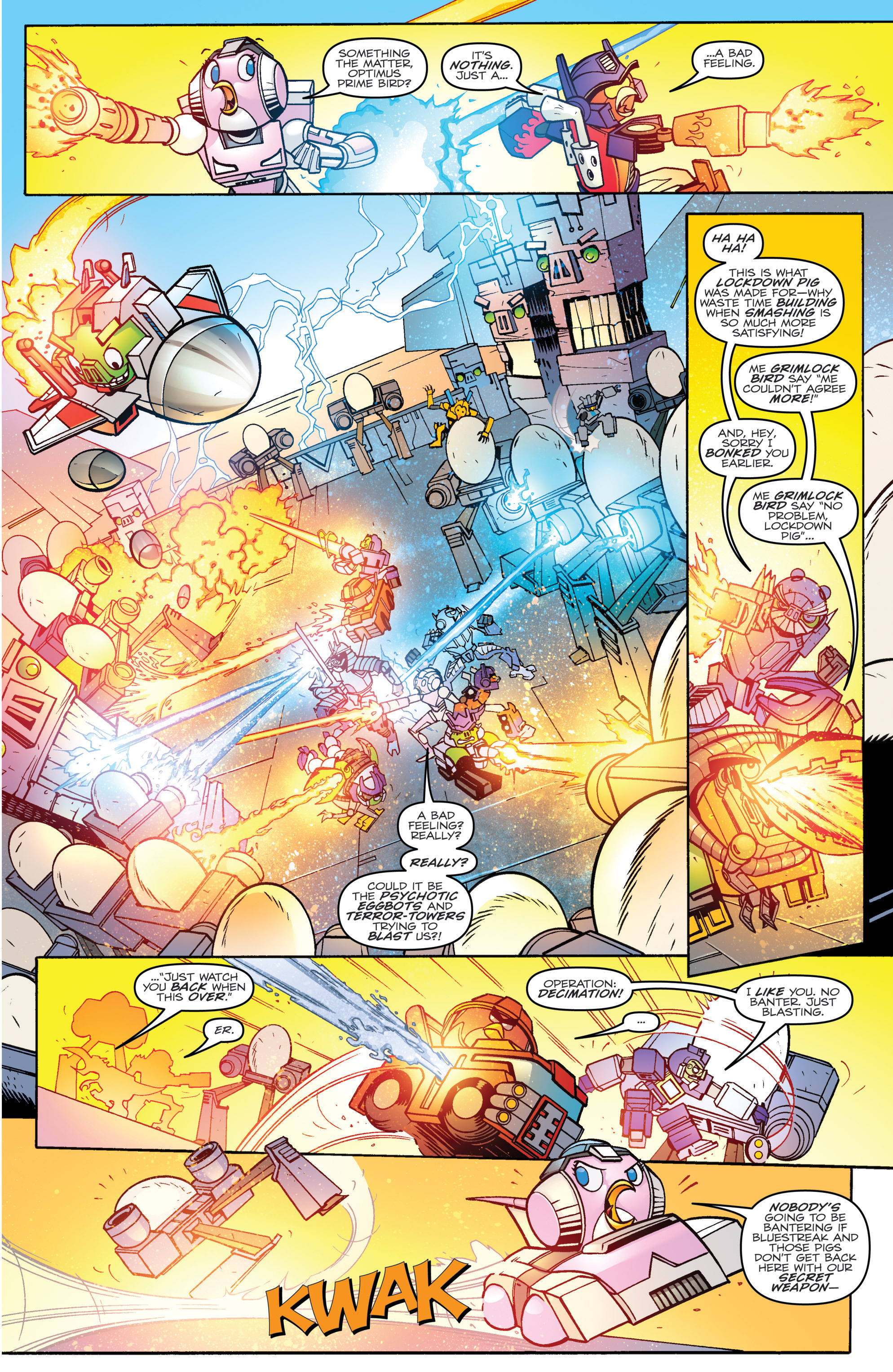 Read online Angry Birds Transformers comic -  Issue #4 - 9