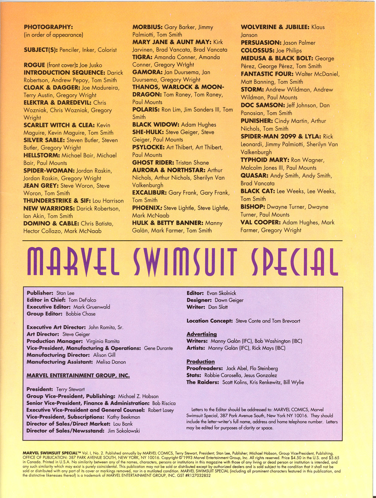 Read online Marvel Swimsuit Special comic -  Issue #2 - 3
