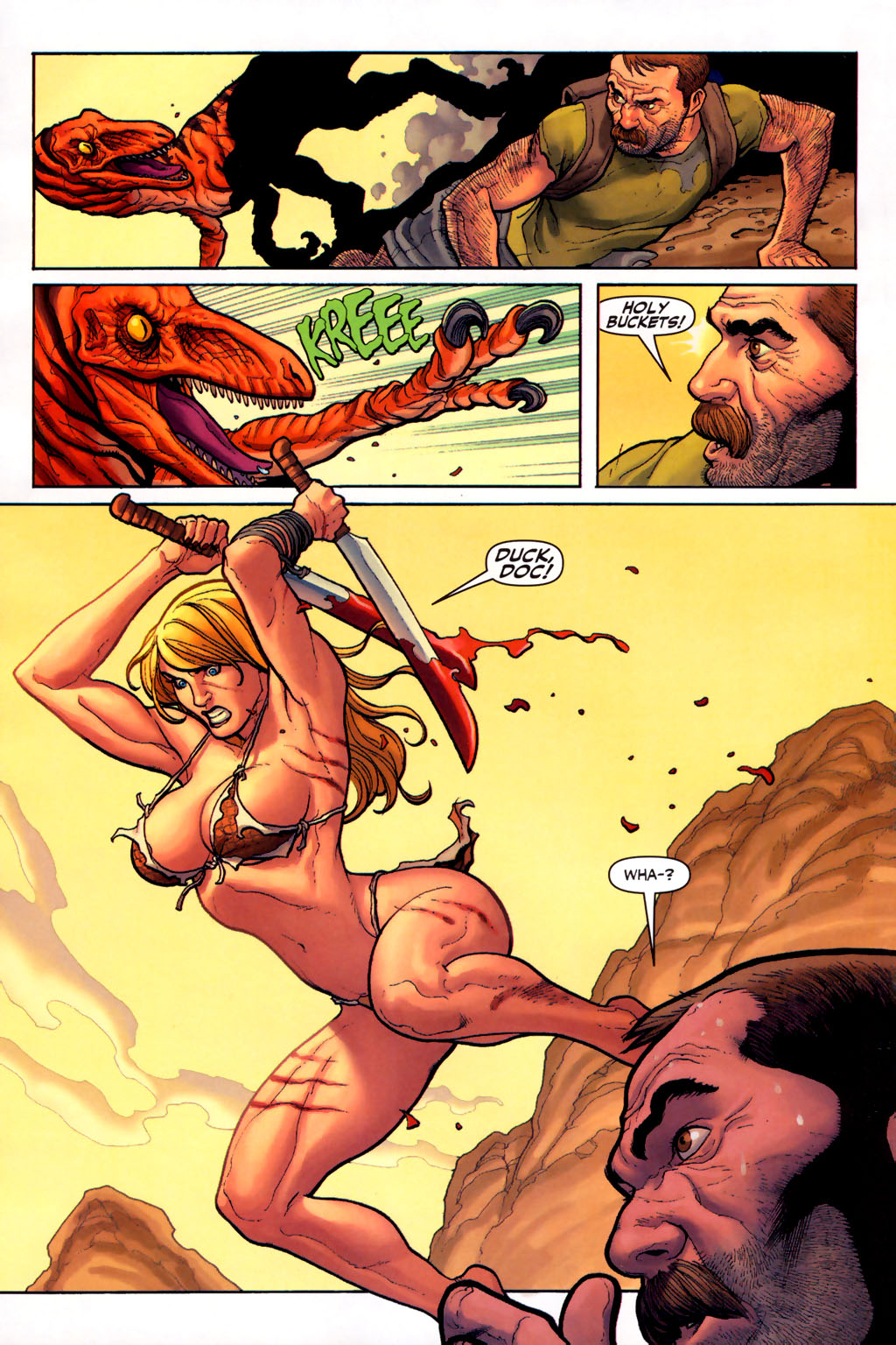 Read online Shanna, the She-Devil (2005) comic -  Issue #6 - 8