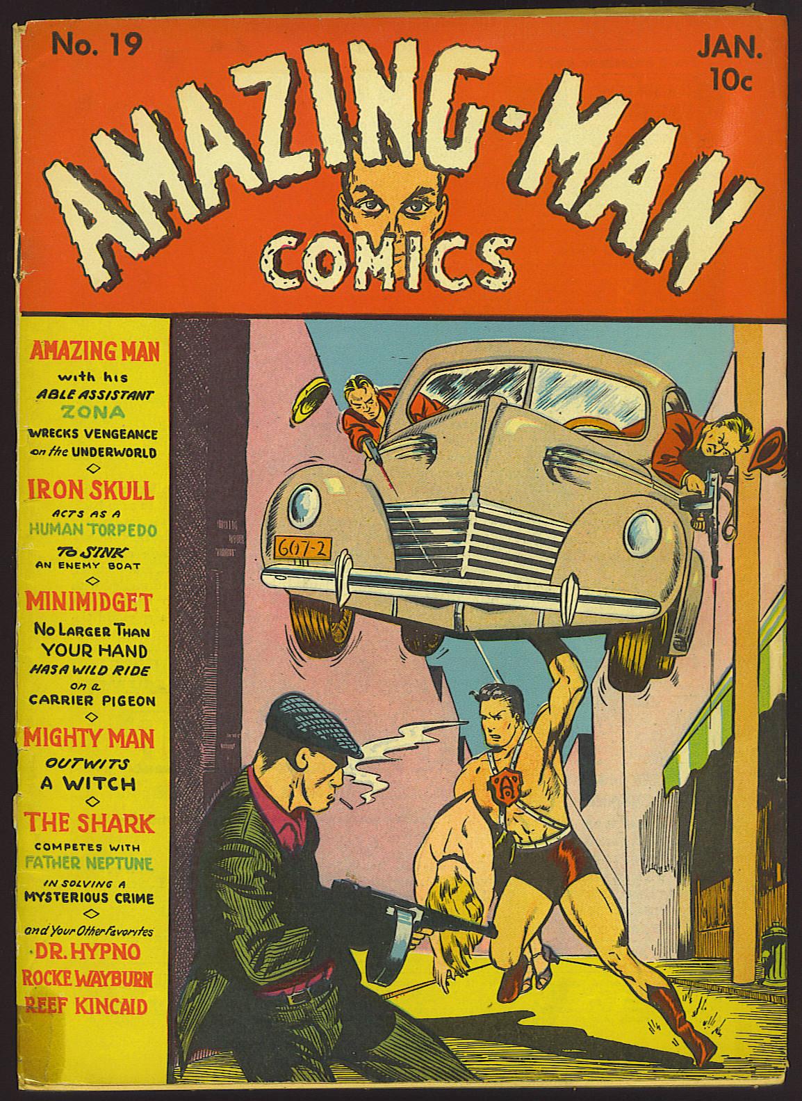 Read online Amazing Man Comics comic -  Issue #19 - 1