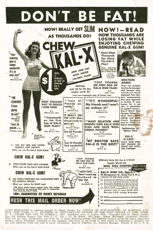 Love Romances (1949) issue 48 - Page 2