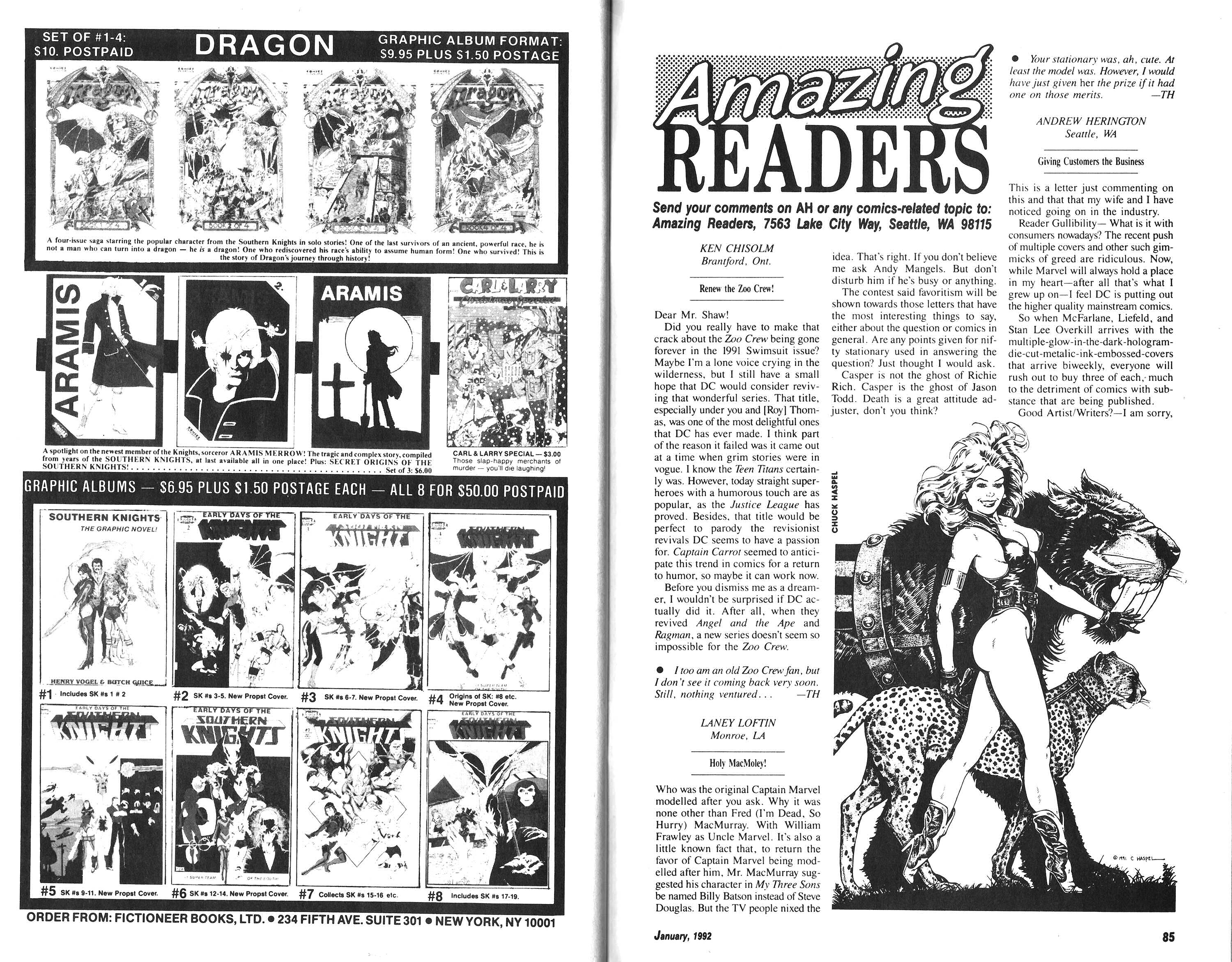 Read online Amazing Heroes comic -  Issue #198 - 43