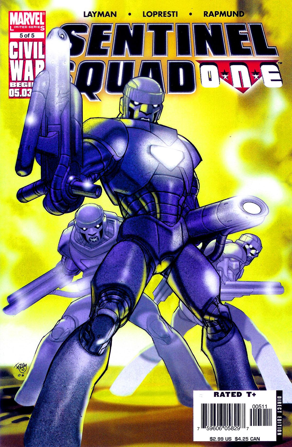 Read online Sentinel Squad O*N*E comic -  Issue #5 - 1
