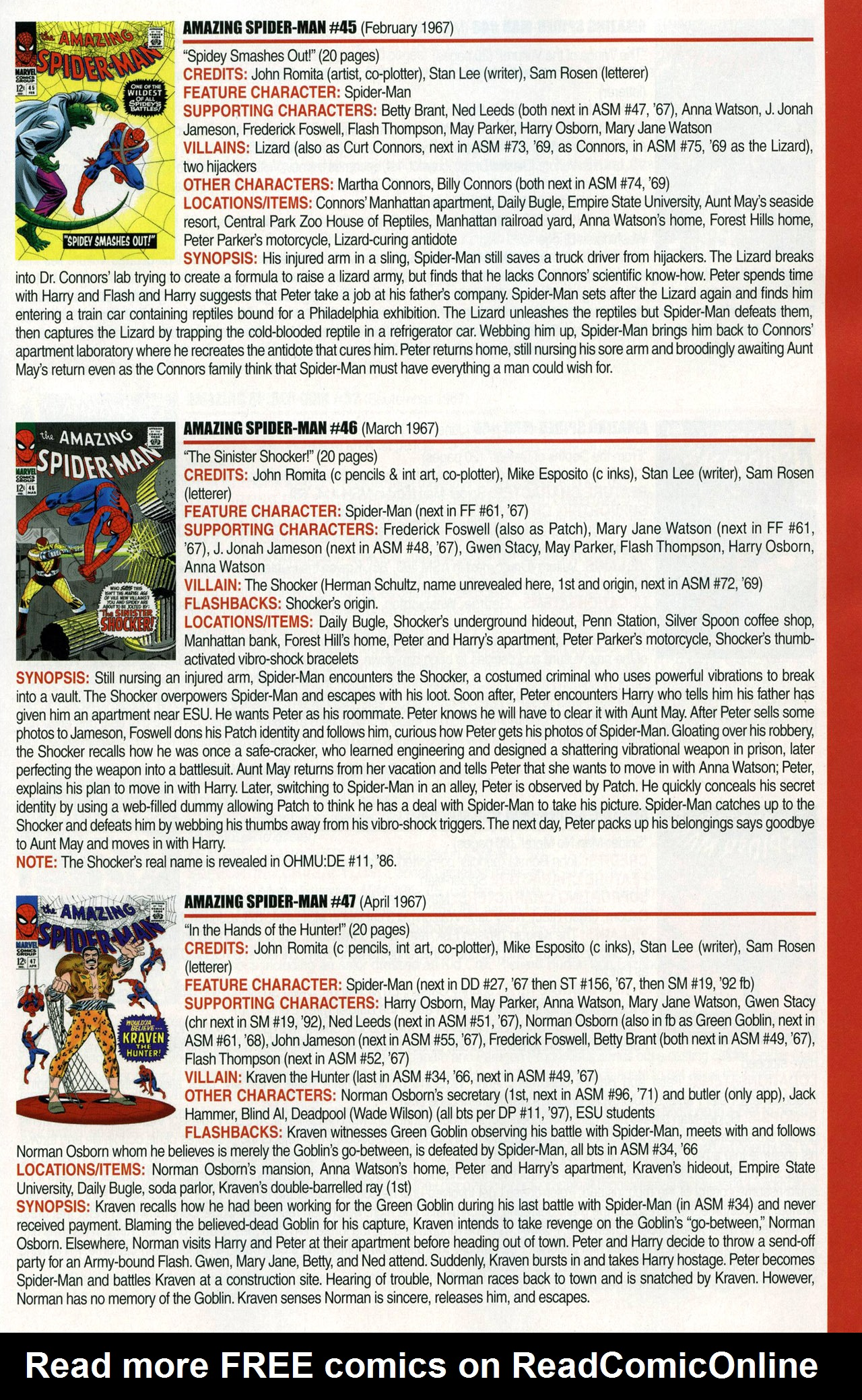 Read online Official Index to the Marvel Universe comic -  Issue #1 - 21