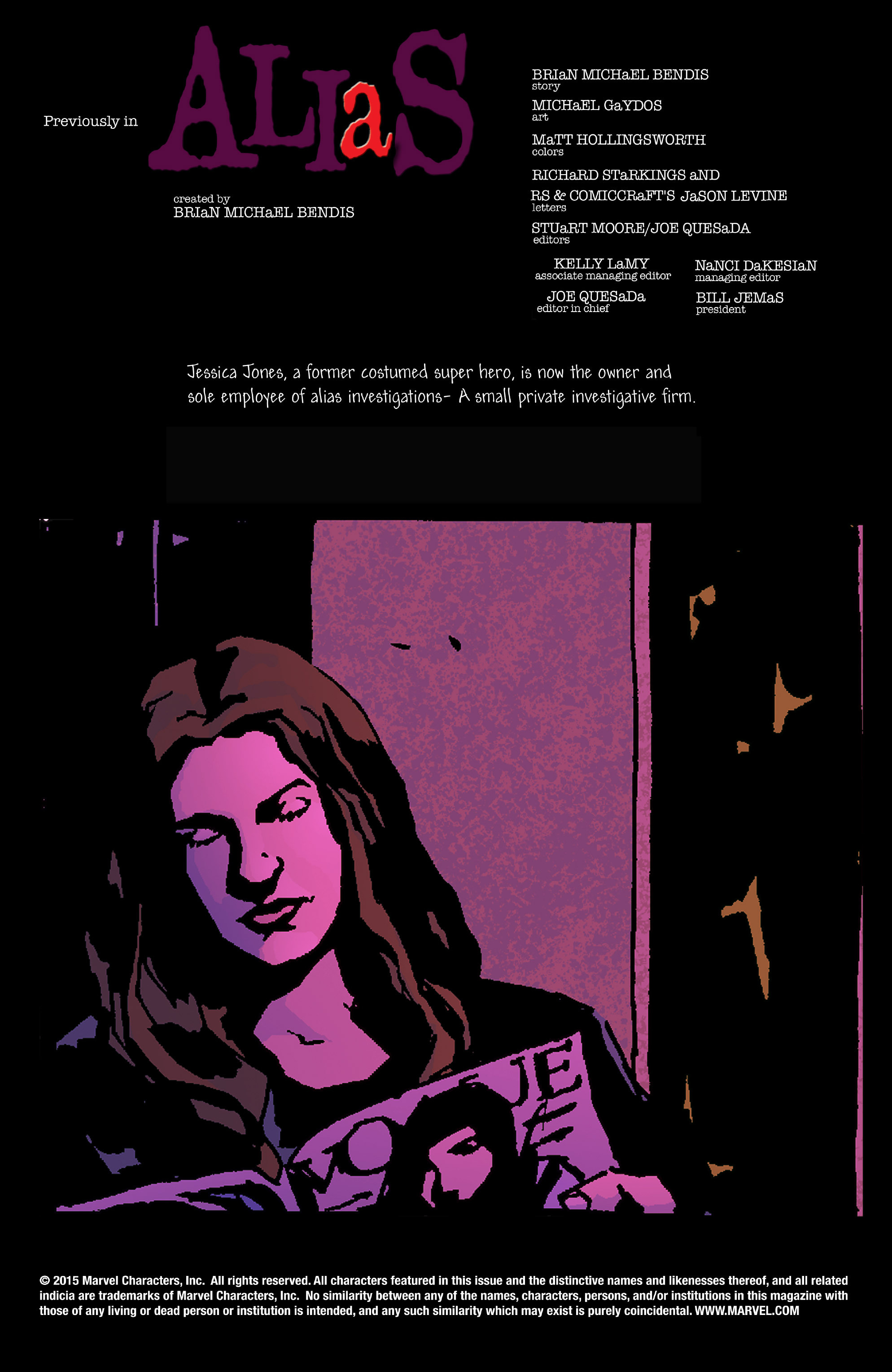 Read online Alias comic -  Issue #15 - 2