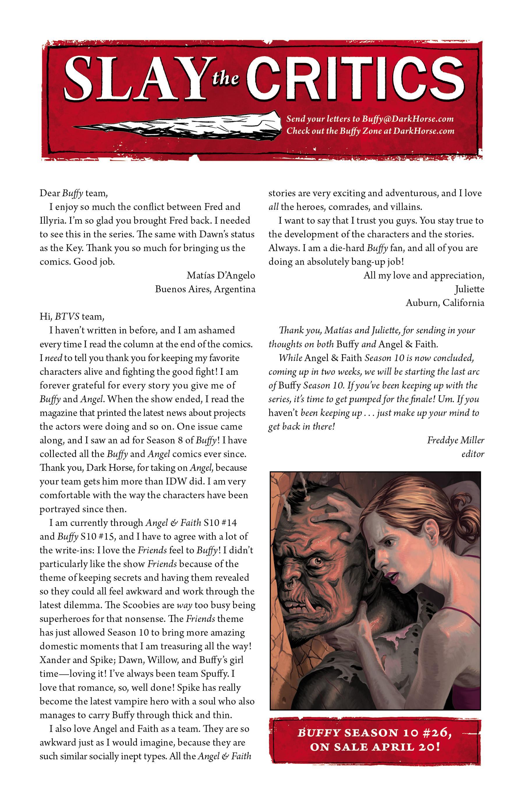 Read online Angel & Faith Season 10 comic -  Issue #25 - 24