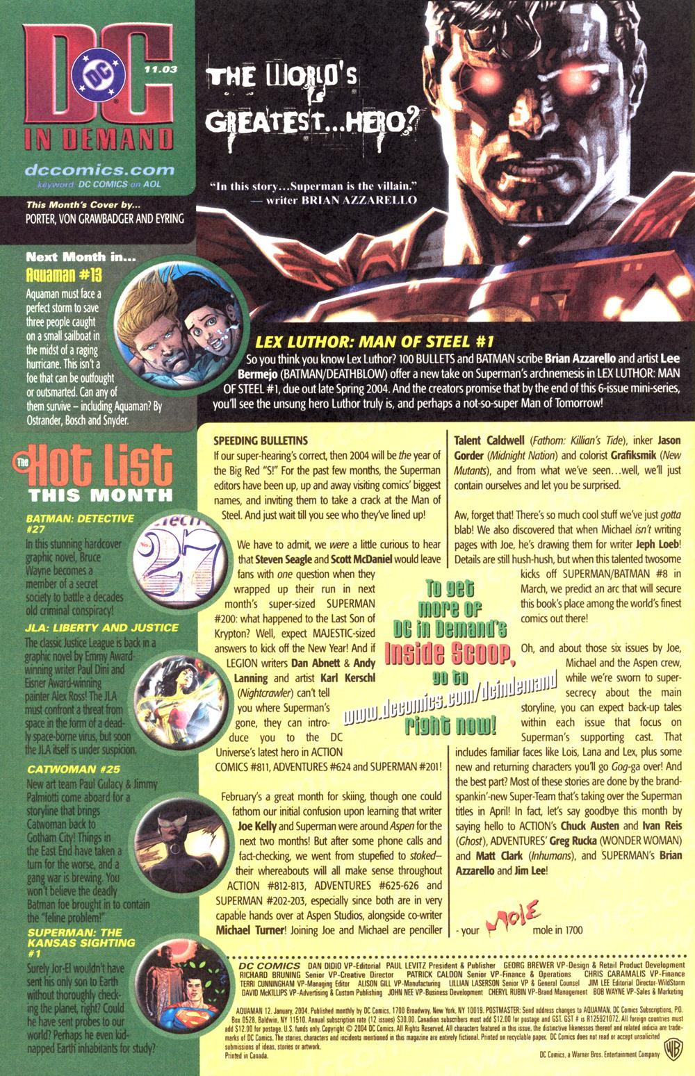 Read online Aquaman (2003) comic -  Issue #12 - 25