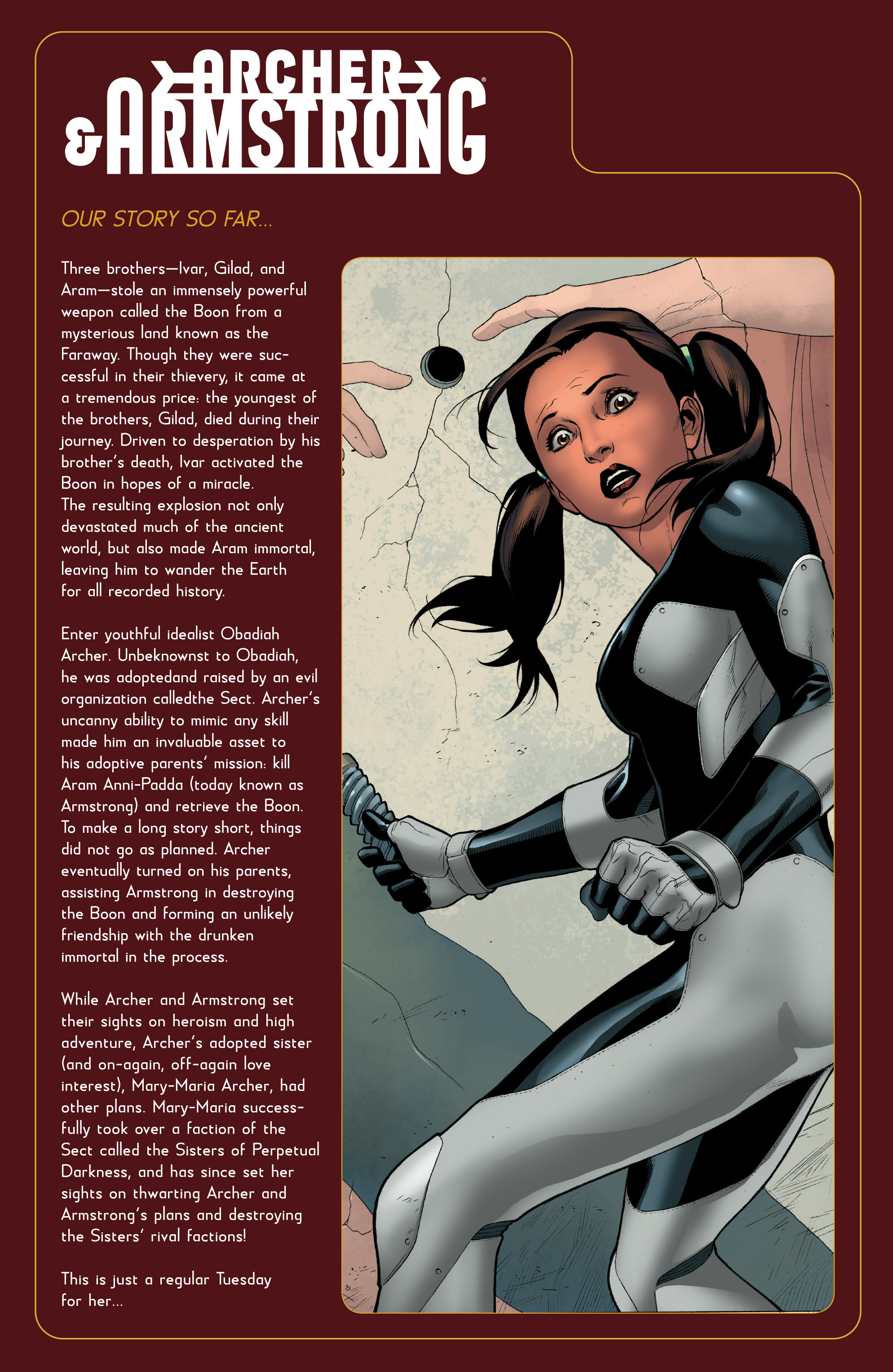 Read online Archer and Armstrong comic -  Issue #Archer and Armstrong _TPB 7 - 8