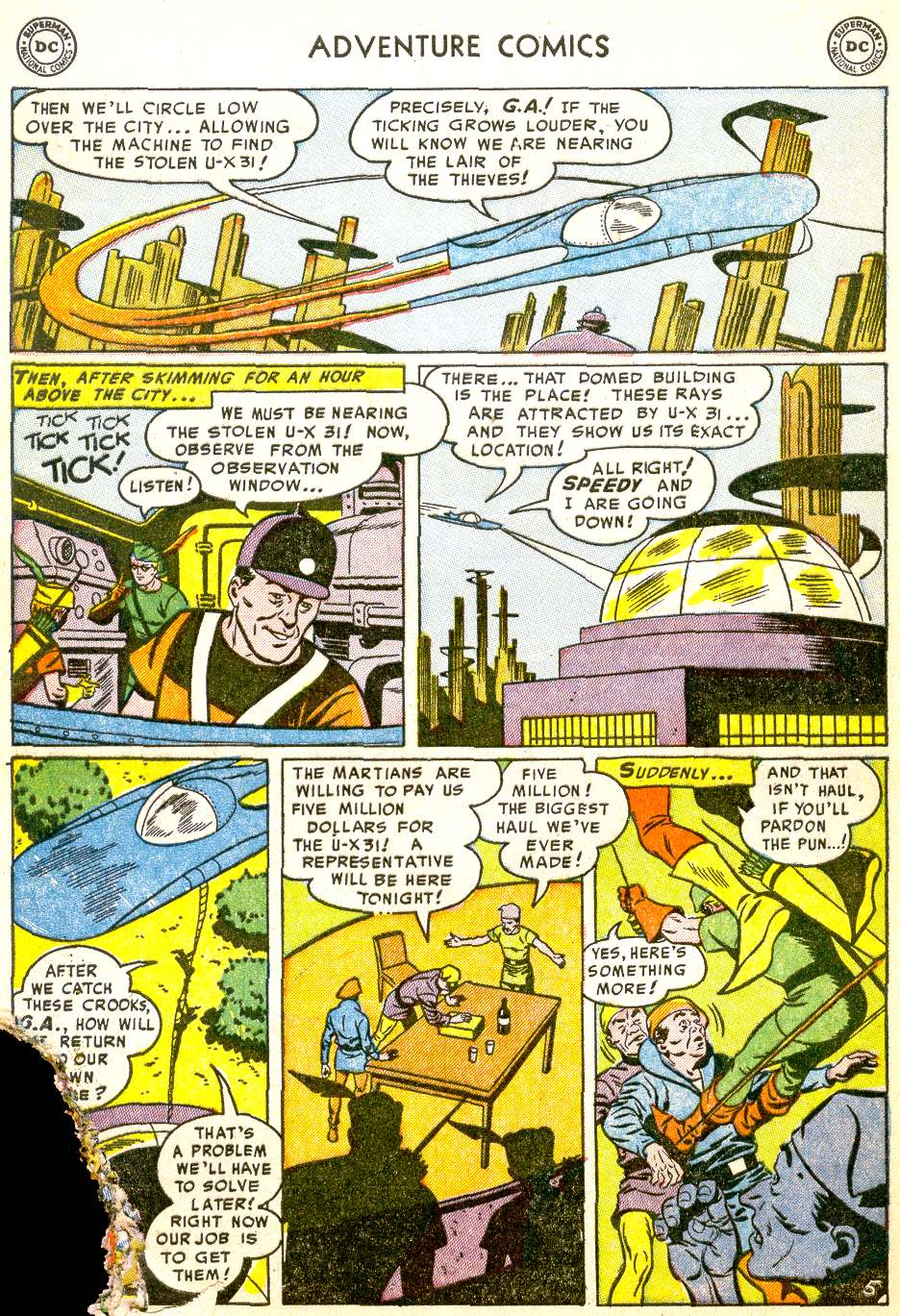Read online Adventure Comics (1938) comic -  Issue #194 - 38