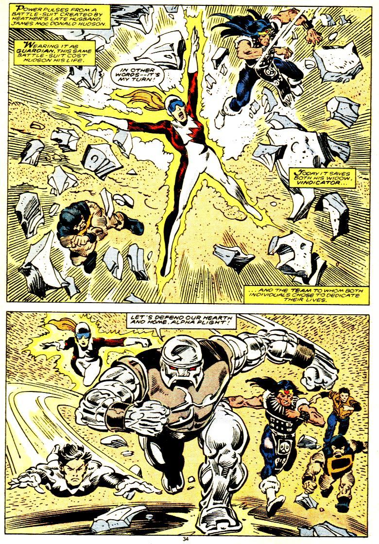 Read online Alpha Flight (1983) comic -  Issue # _Annual 1 - 35