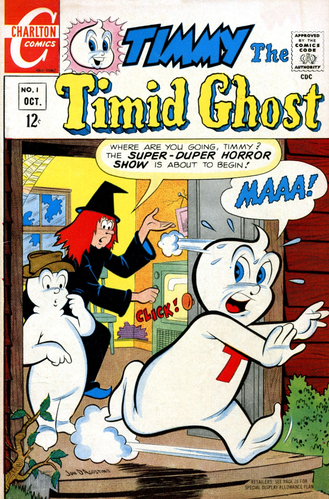 Read online Timmy the Timid Ghost comic -  Issue #1 - 1