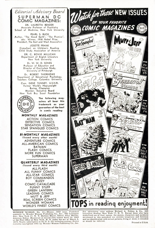 Read online Wonder Woman (1942) comic -  Issue #15 - 2