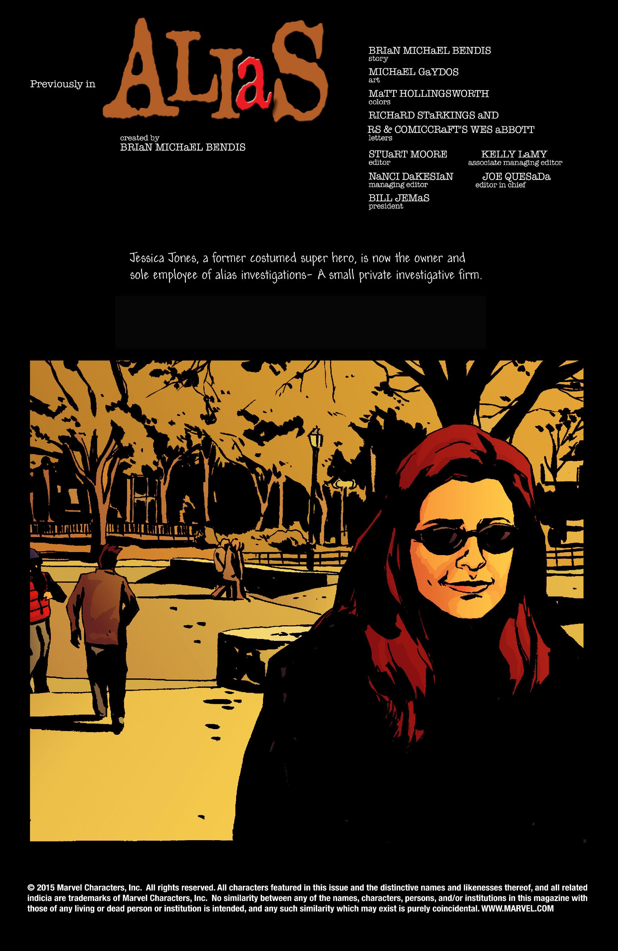 Read online Alias comic -  Issue #7 - 2