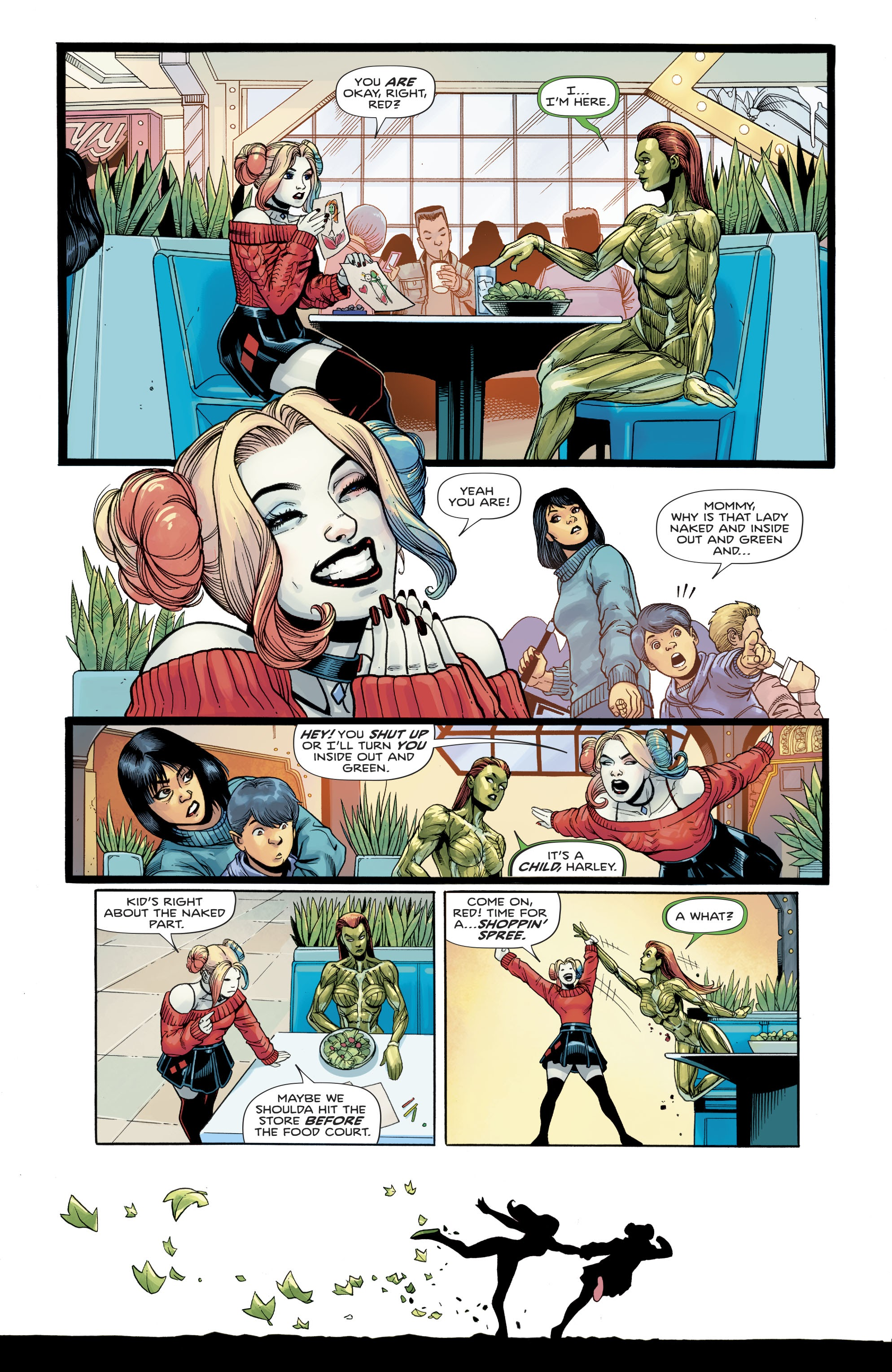Comic Page Featuring conversation between Harley Quinn and Ivy