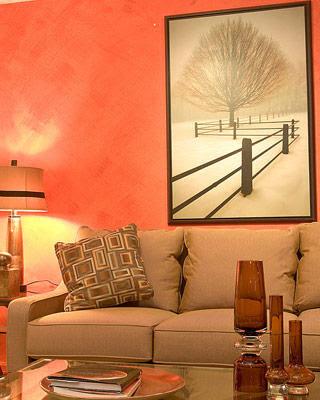 interior design photos orange living room decor idea. Black Bedroom Furniture Sets. Home Design Ideas