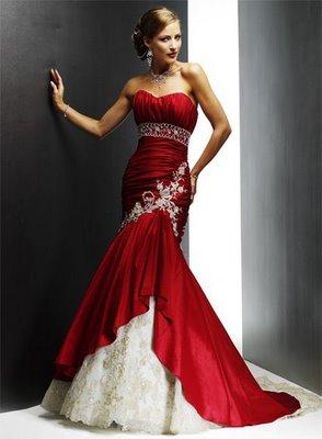 The Trend Wedding Dresses Red White Vintage Dress